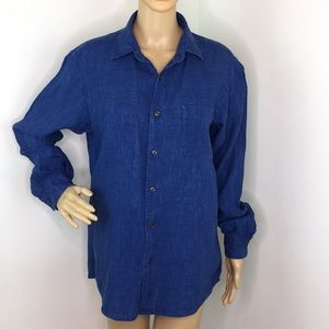 Uniqlo Chambray Long Sleeve Shirt